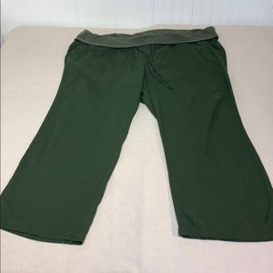 Old Navy Olive Relaxed Wide Leg Linen Pant XXL